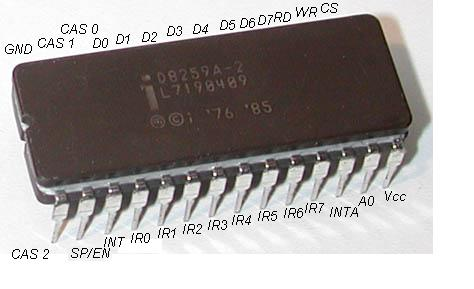 8259A PIC Microcontroller With All Pins Labled